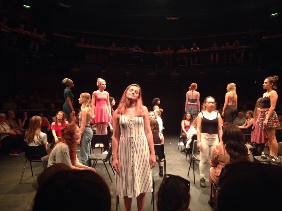NYT final performance (Danica in pink, on the chair))